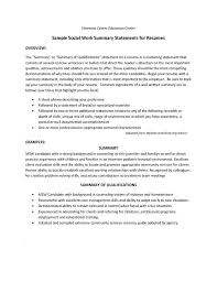 Resume Qualifications Examples Statement Of Qualifications Sample Samples Csat Co