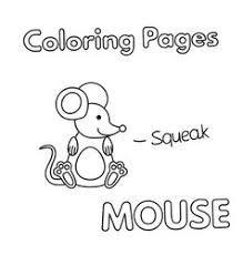 cute mouse cartoon coloring book royalty free vector