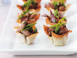 canape cups recipes duck in crisp wonton cups recipe food to
