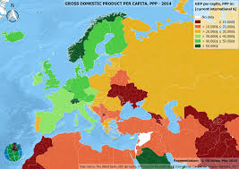 Map Of Europe And North Africa by Gdp Per Capita Ppp In Europe North Africa And Near East 2014