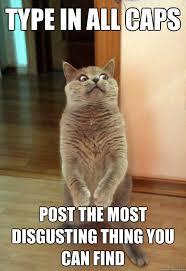 Meme Caps - type in all caps cat meme cat planet cat planet