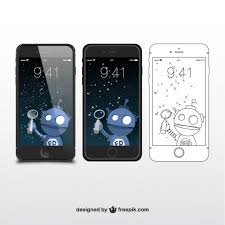 iphone sketch and illustrations vector free download