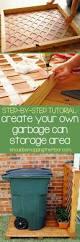 best 25 garbage can storage ideas on pinterest outdoor trash