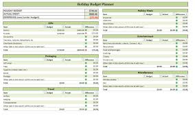 Monthly Budget Planner Spreadsheet Holiday Budget Planner Holiday Budget Planning