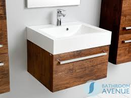 Wall Mounted Vanity Sink Vanity Unit Antique Wood With Resin Wash Basin Giuseppine