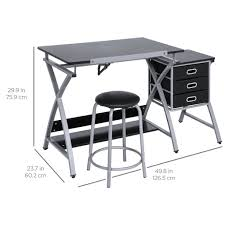 Drafting Table And Chair Set Best Choice Products Office Drawing Desk Station Adjustable Drafting T