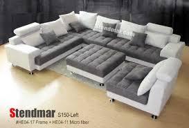 5pc new modern grey microfiber big sectional sofa set s150lg