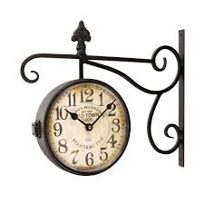 Home Decor Clocks Amazon Com Adeco Wrought Iron Antique Look Brown Round Wall