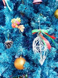 forest christmas tree winter new year decoration light hd