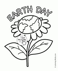 earth flower earth day coloring page for kids coloring pages