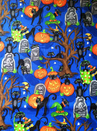Black Cat Halloween Crafts Halloween Cotton Fabric Sale Pumpkin Black Cat Halloween Farbic