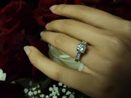 big diamond engagement rings how did you find out how big is your diamond engagement ring pic