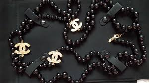 fashion black pearl necklace images Genuine chanel extra long black pearls necklace catawiki jpg