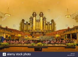 interior mormon temple of latter day saints in salt lake city utah