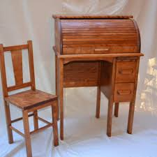 Old Roll Top Desk Child U0027s Roll Top Desk And Chair Antique From Nyvintagevirgo