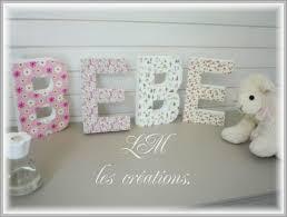 lettre chambre bébé lettre decorative pour chambre bb ambiance dco lettres et prnom