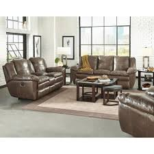 catnapper aria leather power lay flat recliner in smoke 64190 7