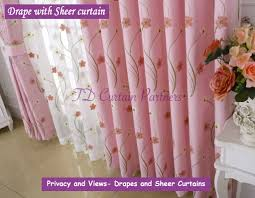 Navy And Pink Curtains Curtain Pink And Teal Curtainsloral Embroidery Swag Valance