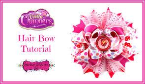 hair bow supplies charmers hair bow tutorial hairbow supplies etc
