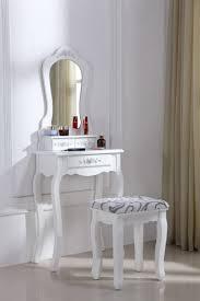siege pour coiffeuse coiffeuse blanche avec siège et miroir x 53
