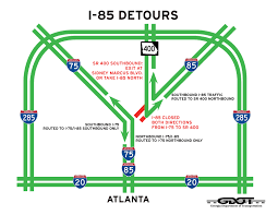 Atlanta Bypass Map What You Need To Know About The I 85 Bridge Collapse Rv Tailgate