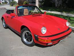 red porsche convertible 1984 porsche 911 carrera cabriolet low 77k miles guards red