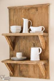 Simple Wood Shelves Plans by Keeping It Cozy Reclaimed Wood Kitchen Shelves This Would Be
