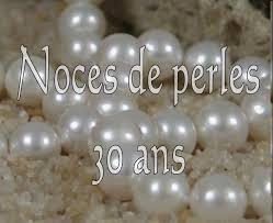 anniversaire de mariage 30 ans noces de perles pour corinne rémi clotilde et antoine