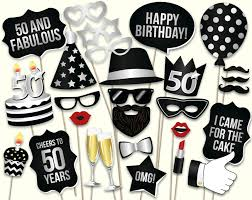 50th birthday party ideas 50th birthday photo booth props printable pdf birthday party