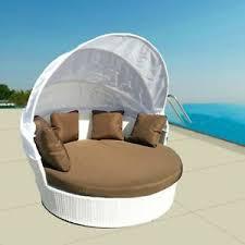 canapé lit rond canapé lit rond pour jardin chaise de rotin sintetique blanc avec