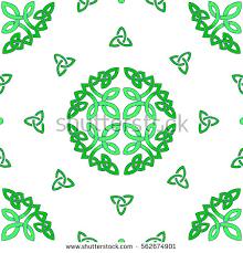 colored celtic pattern elements decorative stock vector