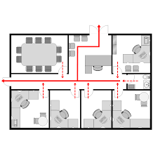 Office Floor Plan Templates by Office Evacuation Plan 2