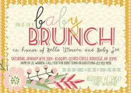 brunch invitation sle baby shower brunch triangles floral invitation