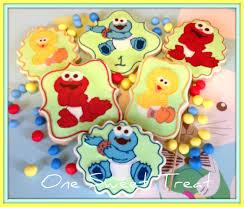 sesame street baby shower baby sesame street cake decorations one sweet treat baby sesame street cookies