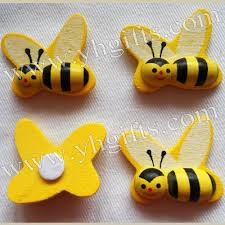 100pcs lot wood honeybee stickers kids toys scrapbooking kit early