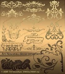 brushes nouveau decor ornament by lyotta on deviantart