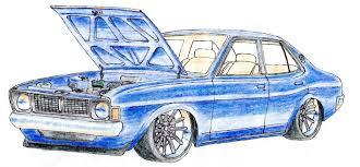 stanced cars drawing galant drawings japanese nostalgic car