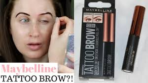 tattoo eyebrows by maybelline maybelline tattoo brow tint review first impressions week 2 youtube