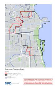 Chicago On A Map by City Of Chicago Neighborhood Opportunity Bonus Leveraging