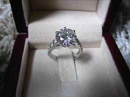 wedding ring in a box engagement ring in box