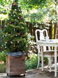 Outdoor Christmas Decorations Rustic by Outdoor Christmas Trees Sequoia Fir Prelit Tree Loversiq