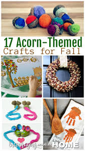 17 acorn themed crafts for kids to make this fall