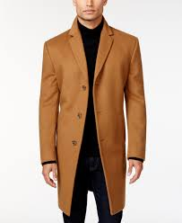 kenneth cole reaction raburn wool blend over coat slim fit wool