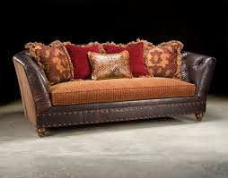 Leather Tufted Chairs Fabric And Leather Tufted Sofa