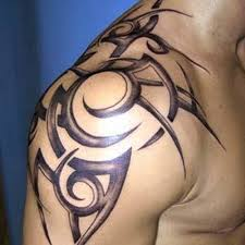 wonderful black 3d tribal tattoo for men in 2017 real photo