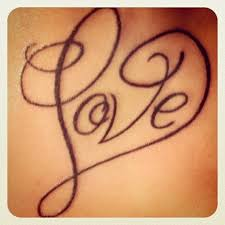 heart tattoo designs with letters heart letter tattoo design