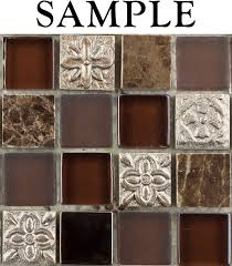 sample kitchen bathroom fusion shagbark 1x1 marble glass tile