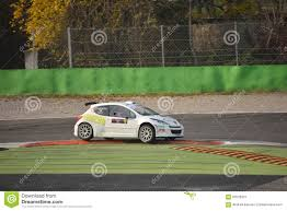 peugeot 207 rally peugeot 207 rally car at monza editorial photo image 62520321