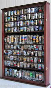 large 144 shot glass display case wall holder cabinet shadow box