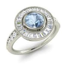 aquamarine and diamond ring aquamarine engagement rings for women march birthstone